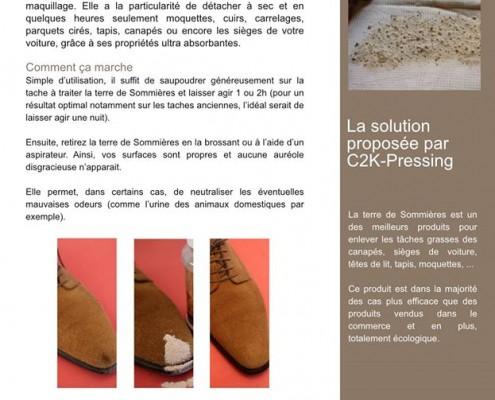 2K-Pressing vous propose un produit écologique contre les taches de gras : la Terre de Sommières.