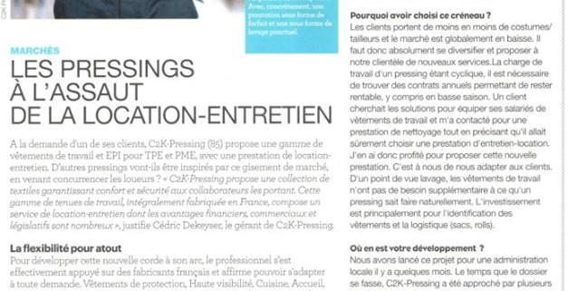 Article d'Entretien Textile sur C2K-Pressing